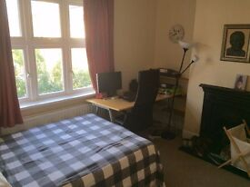 Two Double bedrooms available in a 2 bed house with private garden and a small spare room.