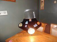 Vintage OLD Actual MOTORBIKE MOTORCYCLE BIKE Lamp LIGHT DESK WALL Large HARLEY