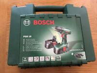 Bosch 18V cordless drill and 50 pc bit set