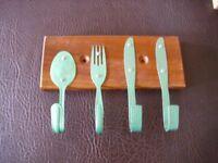 Cutlery key ring holder