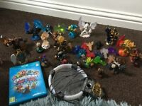 Skylanders trap team game figures and traps for Wii u excellent condition