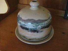 Highland Stoneware Pottery Seascape Cheese Dish