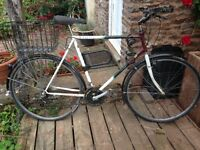 "Adult bicycle, Raleigh Pioneer, 28"" wheels, 15 gears"