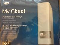 WD my cloud storage 2tb