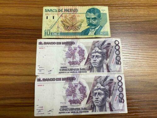 50000 Old Pesos Bills & 10 Old Pesos Bill