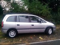 2002 52 plate diesel vauxh zafira dti comfort 7 seater