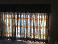 Designer children's curtains Anna French fabric BOATS . LIKE NEW