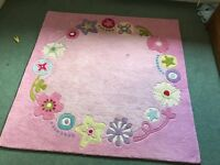 Girls rug for bedroom or nursery - 100%wool