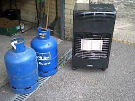 calor gas fire & cylinders