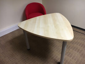 maple meeting table with castors