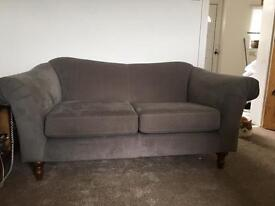 Sofa 2 seater grey Fabric from John Lewis. Bow back Shabby Chic style