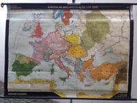 Schulwandkarte Europa im Hochmittelalter (um 1000), 194 x 144 Köln - Nippes Vorschau