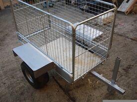 garden trailer galvanized good to use on farms garden or etc