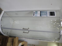 AquaDart Venturi 8; double door 900 Quadrant glass shower screen (side panel missing)