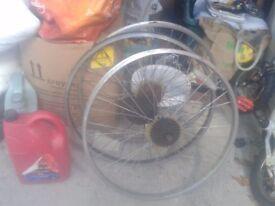 """rear back mountain bike wheel wheels for 26"""" tyres, x 3"""