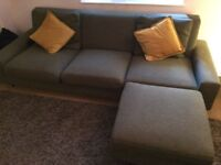 Corner Sofa 3 seater, green