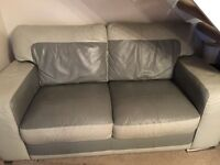 2 x 2 seater sofas 2 shades of grey