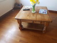 Mexican Pine Coffee Table [88cm x 88cm x 48cm] £80