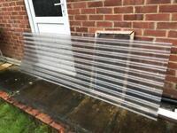 Plastic corrugated sheet 800mm x 2100mn