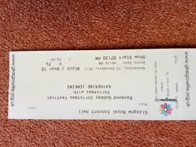 Two tickets for Christmas concert with Katherine Jenkins Glasgow Royal Concert Hall 20th Dec 7.30pm