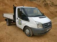 9befb3bd20 Ford transit tipper van 2.4 tdci no VAT! flat bed drop side 6speed 115ps