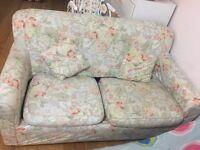 Beautiful floral Sofa set / sofa bed too.