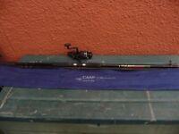 FLADEN CHIEFTAIN 12FT CARP ROD 2.5LB&DAIWA REGAL-X 4050BRT BAITRUNNER REEL