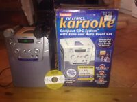 1 karaoke system ideal for children & adult came with 2 microphone