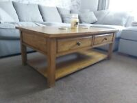 Immaculate Oak Large Coffee Table