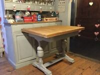 Vintage shabby chic extending dining table