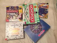 Collection of children's board games