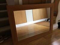 Oak framed wall mirror for sale  East Horsley, Surrey
