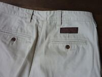 ABERCROMBIE AND FITCH MENS DURABLE SMART CHINO THROUSERS 32 WAIS 34 LONG WHITE STONE COLOUR