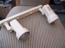 Twin lights with twin switches good condition.