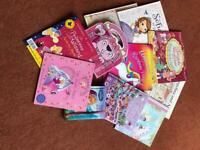 Collection of 11 girls books.