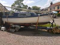 18ft Sailing boat project with trailer and optional seagull outboard