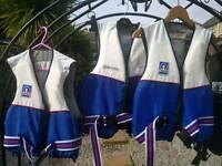 Life jackets, buoyancy aid