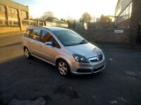2007 Silver Vauxhall Zafira March 2019 M.O.T.