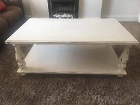 Upcycled shabby chic coffee table