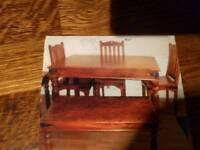 Coffee table and matching dinning table and 4chairs
