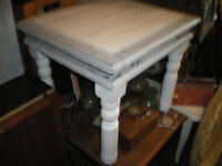REDUCED-PAINTED INDIAN SHEESHAM COFFEE TABLE