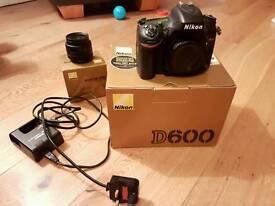 Nikon D600 + 50mm 1.8 lens. Mint condition