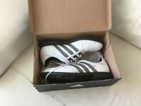 Adidas Men's White Leather Golf shoes - size 9.5