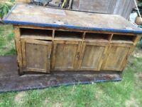 Vintage school woodwork benches x3