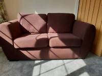 2 Seater sofa brown hardly used