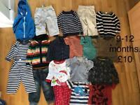 9-12 months boys clothes bundle