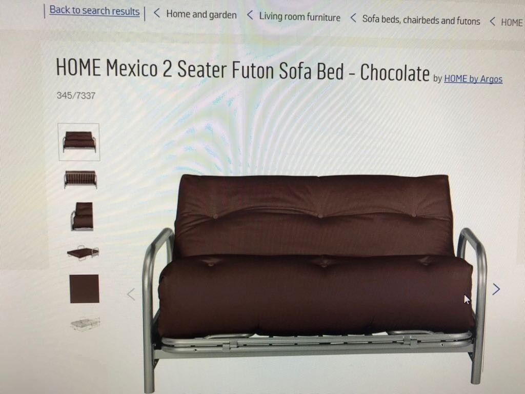 Mexico 2 Seater Futon Sofa Bed