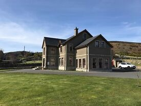 Six bedroom detached house in the Mournes overlooking the sea.