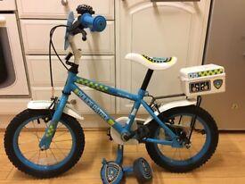 "Kids police patrol bike - 14"""