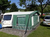 Caravan awning Dorema size 10 Green with tall annex